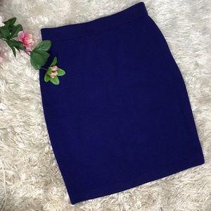 St. John Collection Indigo Thick Knit Skirt Sz 4